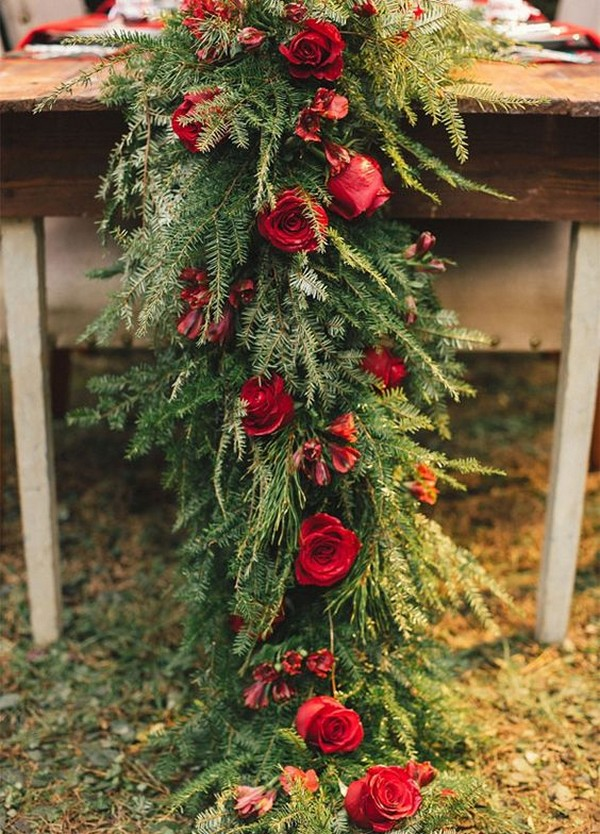 18 Stunning Christmas Themed Winter Wedding Ideas