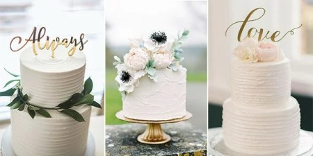 15 Simple but Elegant Wedding Cakes for 2018   EmmaLovesWeddings simple but elegant wedding cakes