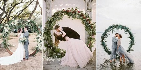 Top 20 Pretty Circular Wedding Arches for 2018 Trends     circular wedding arches