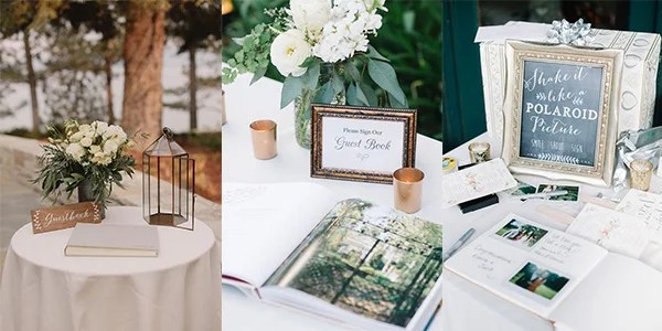 15 Trending Wedding Guest Book Sign-in Table Decoration