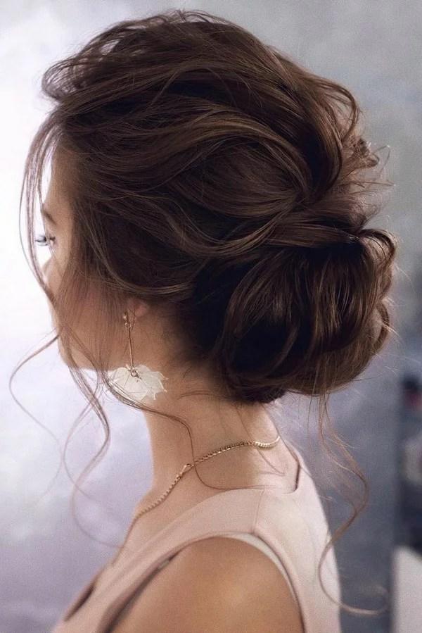 15 Stunning Low Bun Updo Wedding Hairstyles From