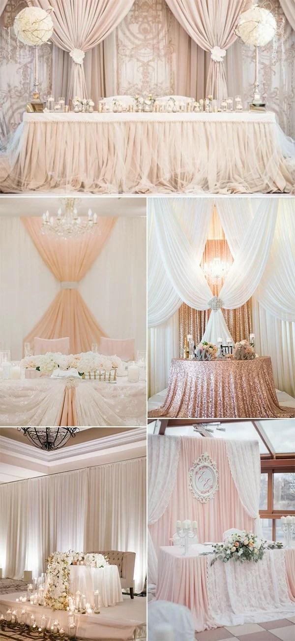 18 Amazing Wedding Head Table Backdrop Decoration Ideas