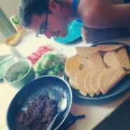 taco time with my boyfriend. yeah, we ate all of those.
