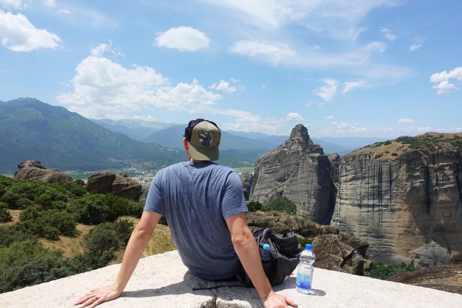 view from kalambaka monasteries