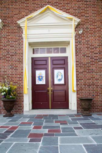 The Holy door at the St. Catherine Cathedral in Allentown, PA