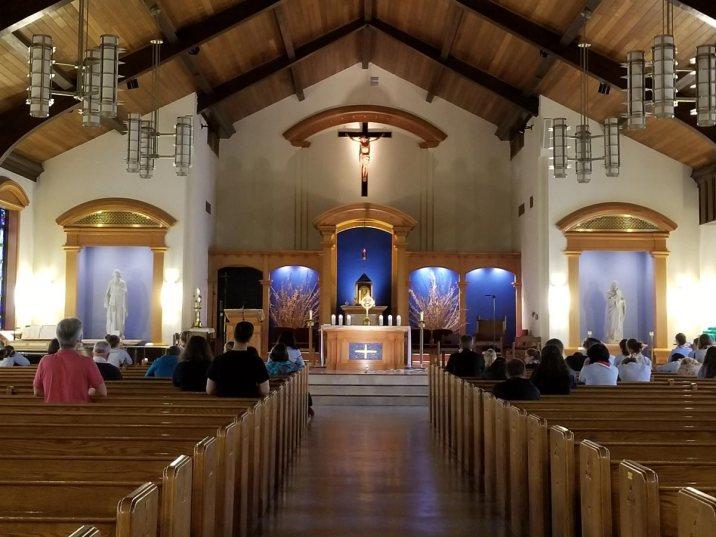 Adoration at the ss. John & Paul parish