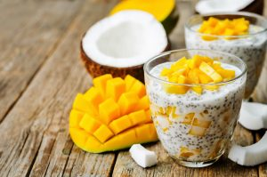 chia pudding tropical