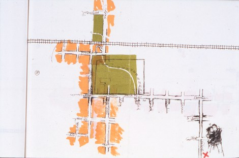 Chez Tcherku, dans le livre d'artiste Itinéraires, sérigraphie sur papier japonais, chine collé, 30 cm X 21 cm, 2004