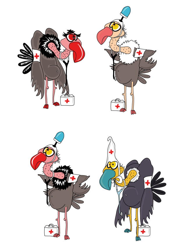 dessin de vautour