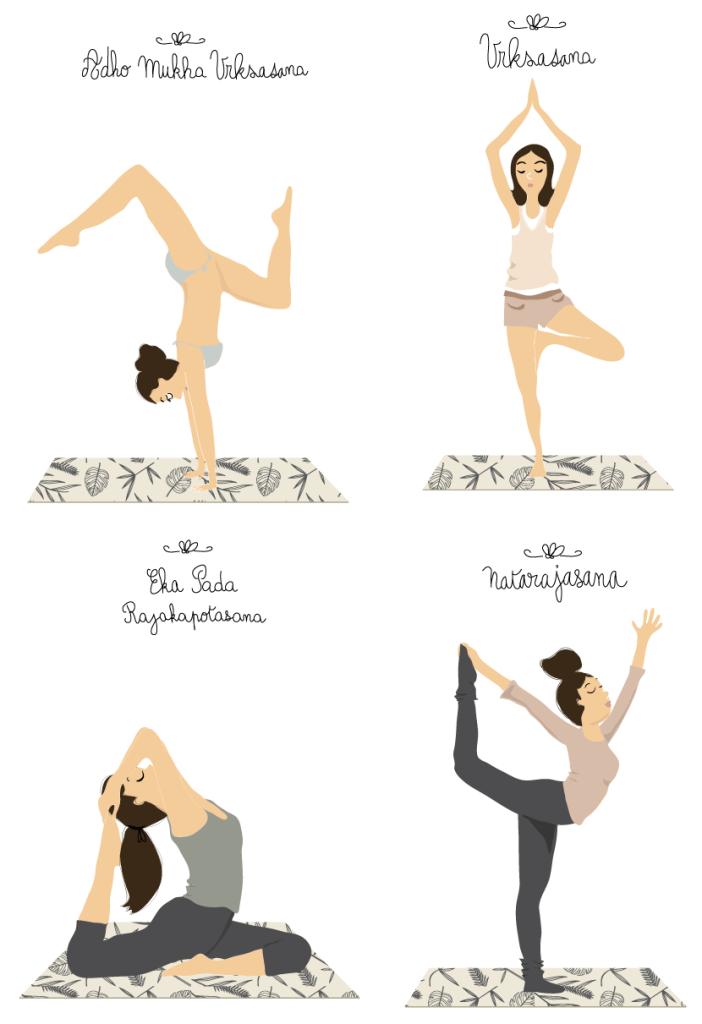 dessins de postures-yoga