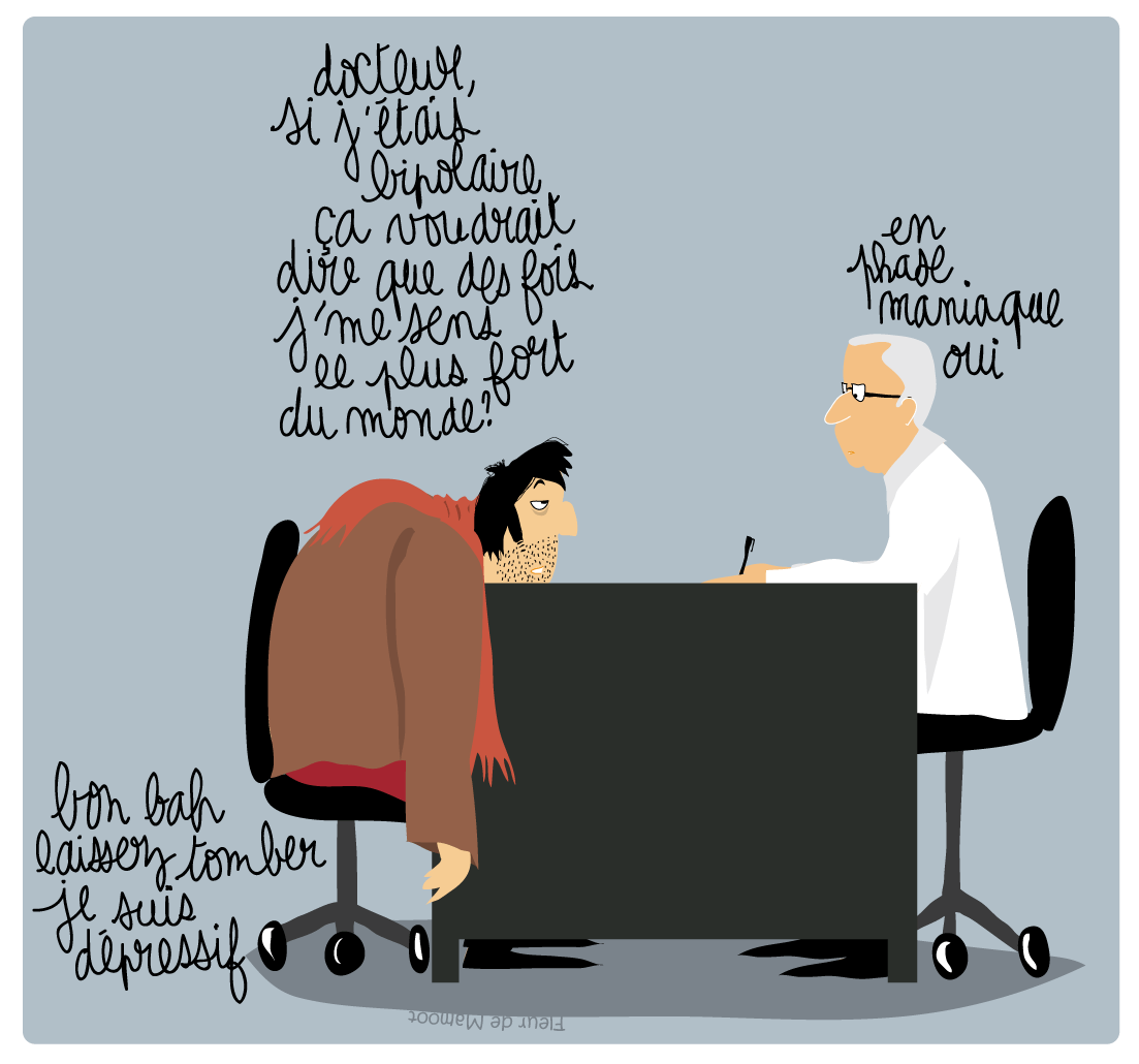 dessin humour presse bipolaire