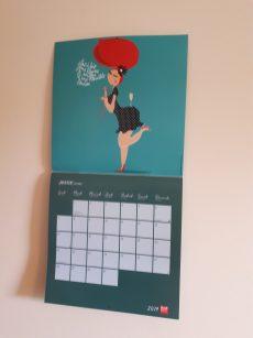 calendrier 2019 fleur de mamoot