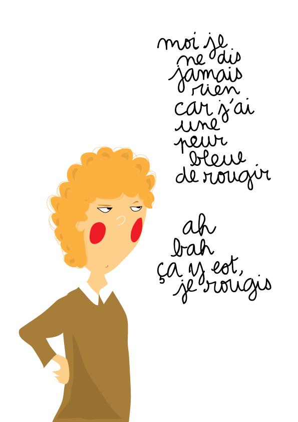 dessin humour ado rougir