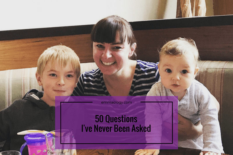50 Questions I've Never Been Asked