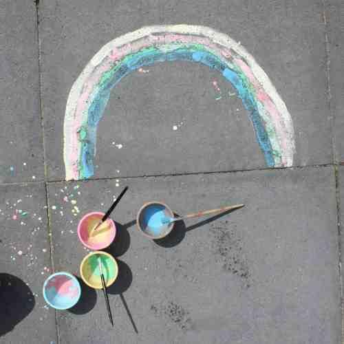 easy sidewalk chalk paint recipe