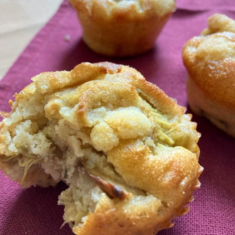 muffin crumble rhubarbe recette