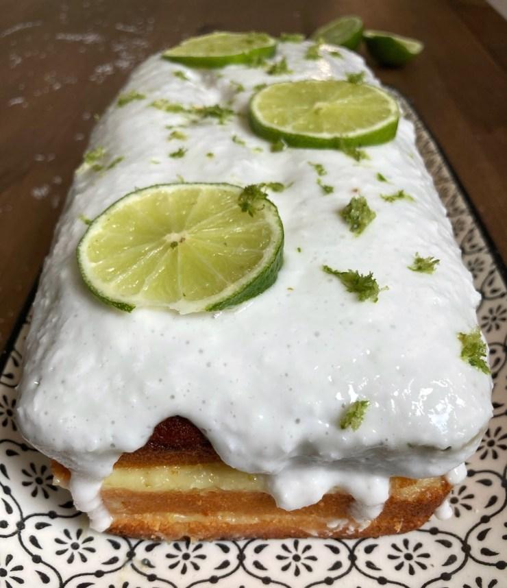 recette du cake coco citron vert fourré à la crème de citron vert