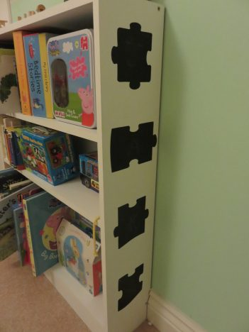 bookcase from the side