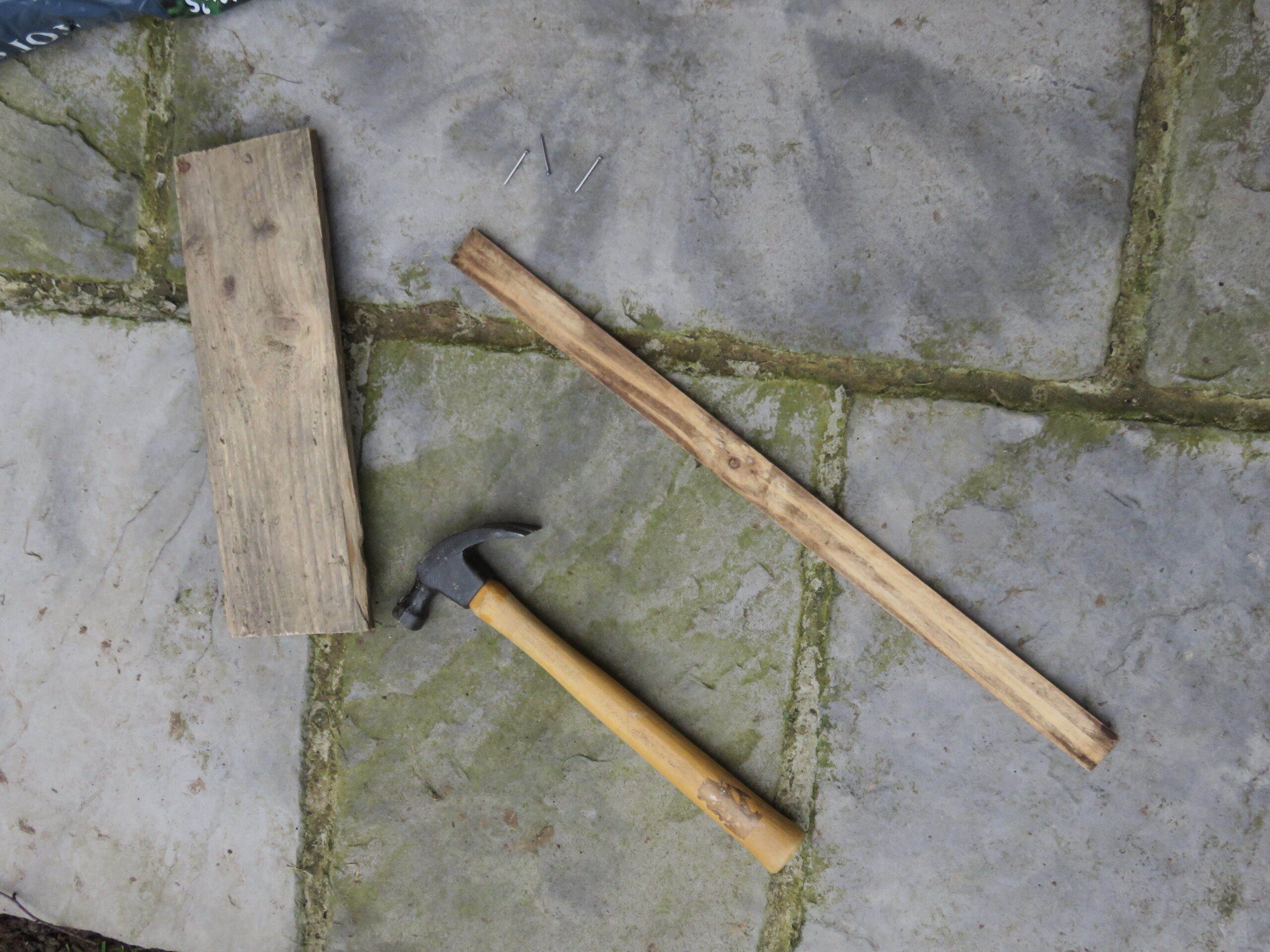 hammer and wood