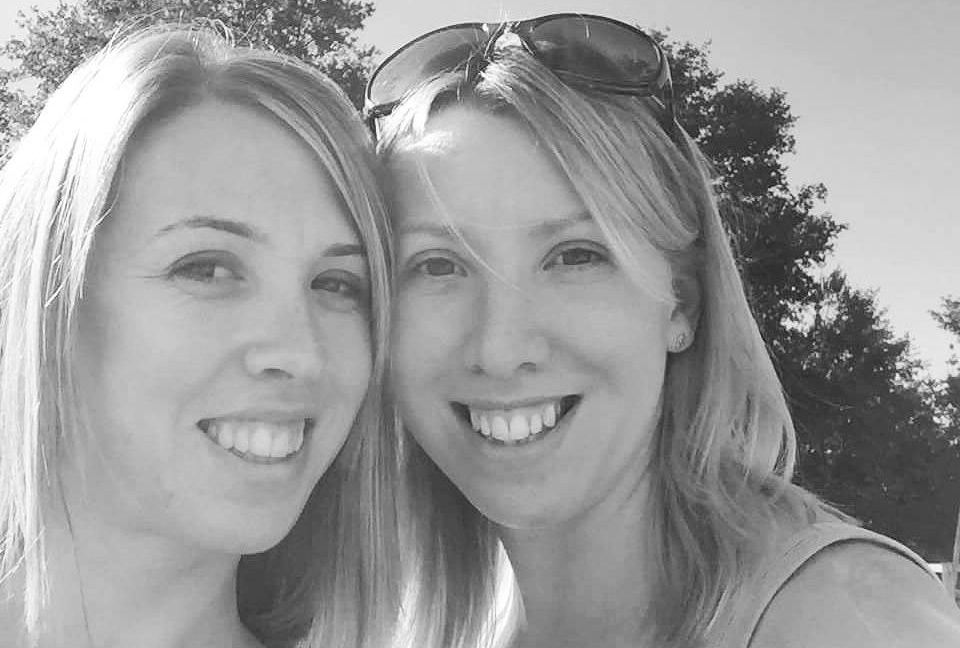 my sister and me. Endometriosis blog