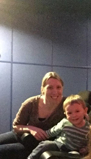 me and Jake in the science centre planetarium for our day out