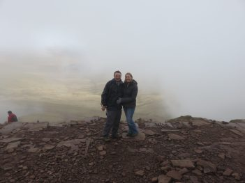 me and Rob on the top of a mountain