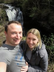 me and Rob by a waterfall
