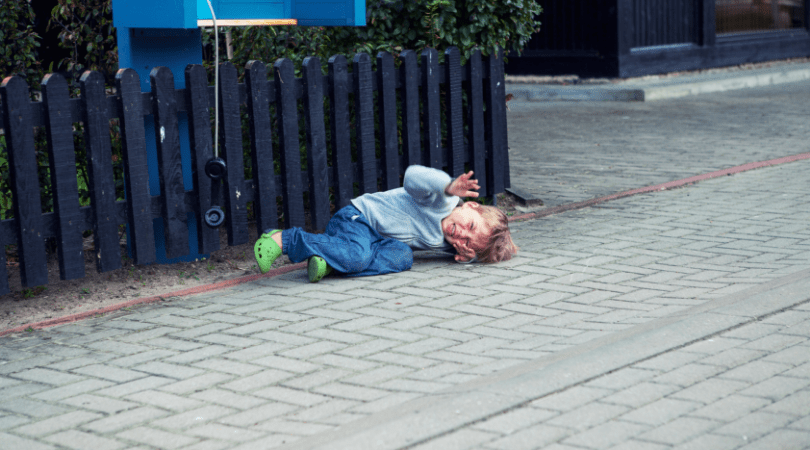 toddler tantrums on the floor
