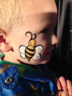 bee facepaint
