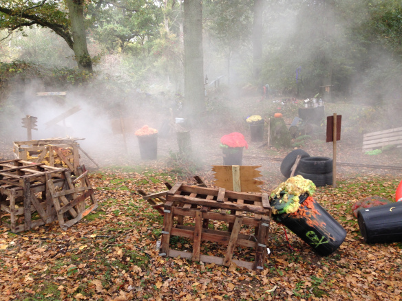 Halloween setting at Wellington country park