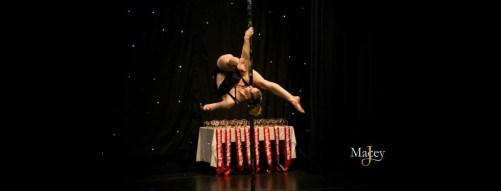 lady on a pole