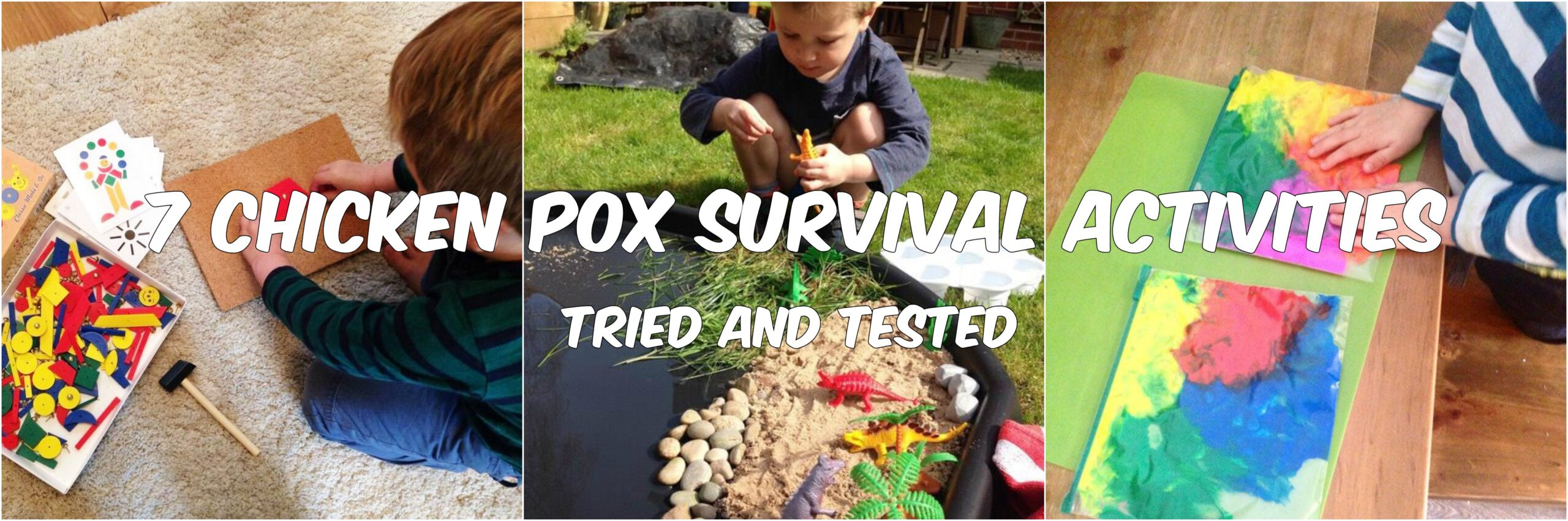chicken pox survival collage