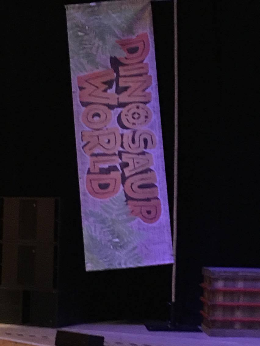 dinosaur world banner