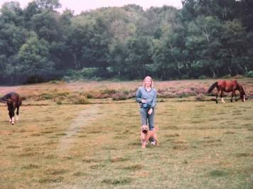 me and Molly in a field with horses
