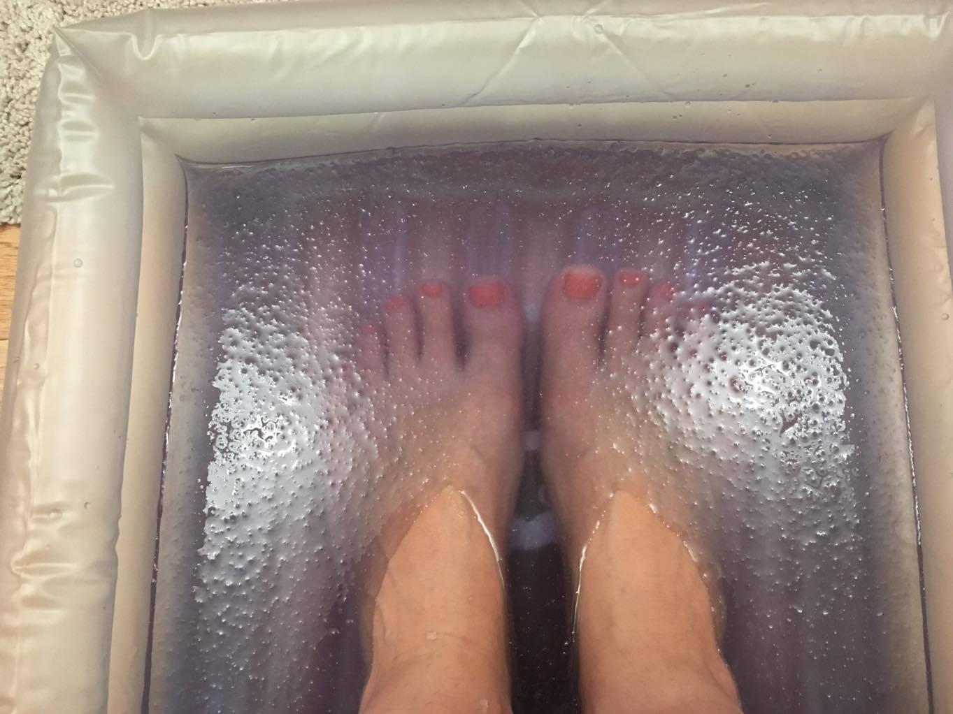 my feet in a foot spa