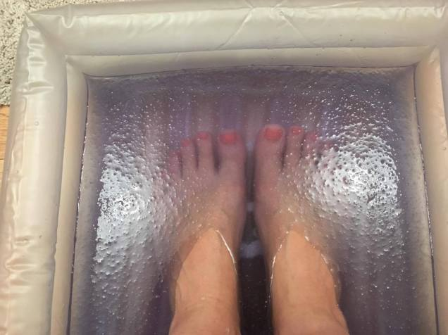my feet in a foot spa