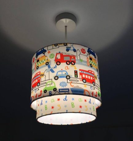 truck and car lampshade