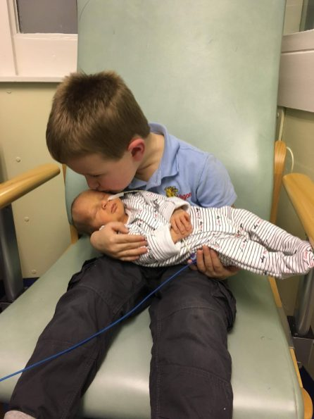 baby with brother
