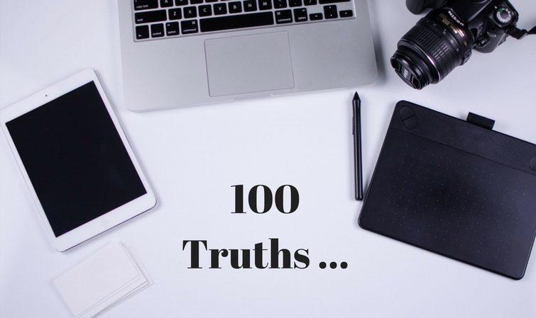 100 truths blogger tag