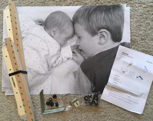 photo canvas with non-assembled frame