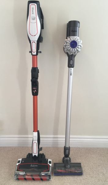 Shark and Dyson side by side