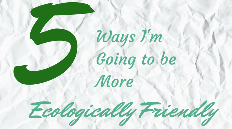 5 ways I'm going to be more ecologically friendly