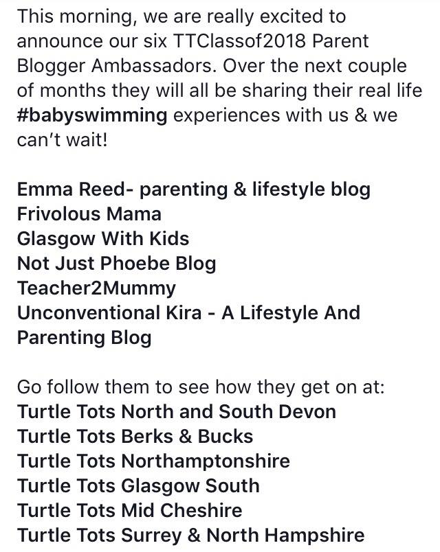 announcement of the turtle tots ambassadors