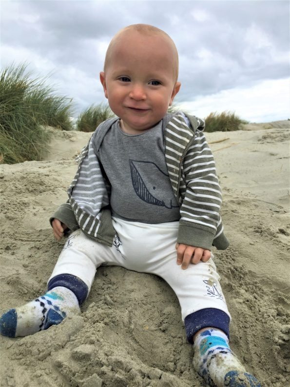 baby in the vest and pants from little drop in the ocean