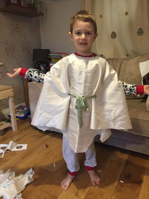 Jake posing in the wise man outift so far