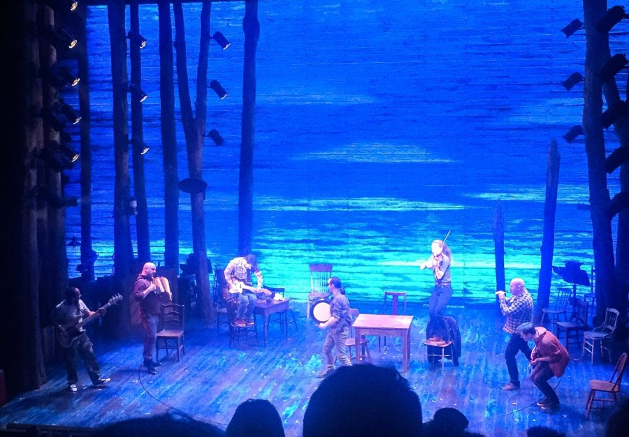 band of Come From Away on stage