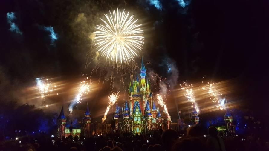 Disney firework display at Walt Disney World
