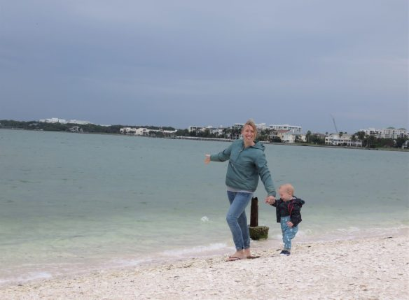 me and william on the beach