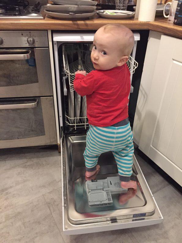 William on the dishwasher