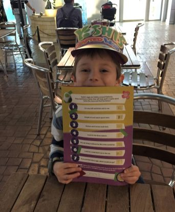 Jake holding his easter egg hunt sheet